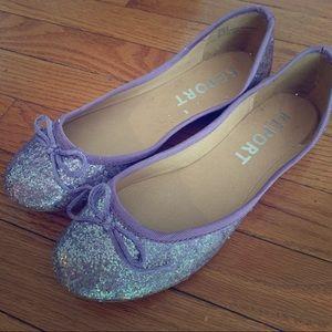 Report Purple Glitter Flats